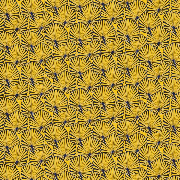Toile pour pliant pêcheur Tropical jaune